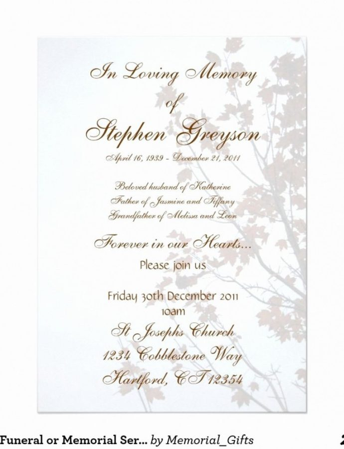 Costume 024 Memorial Service Template Free Ideas Invitation Lovely Custom Memorial Service Notice Template Sample