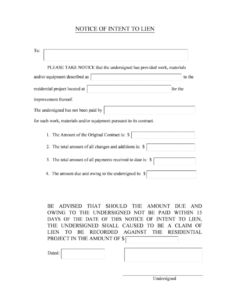 costume sample of a lien letter pdf  fill online printable fillable pre lien notice template example