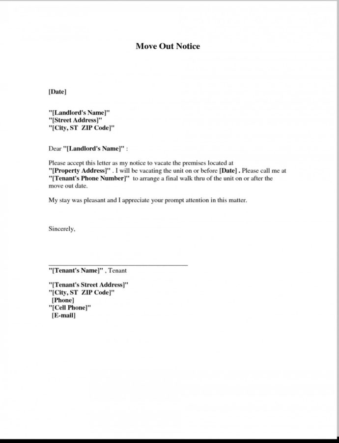 Editable 018 Template Ideas 20Move In Out Form Lovely Day Notice Job Latter Written Notice To Vacate Apartment Template Example