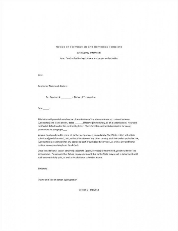 editable 20 agreement termination letters  free word pdf excel format notice of cancellation of contract template example