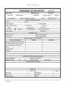 editable 26 personnel action forms in doc  free word format download personnel action notice template example