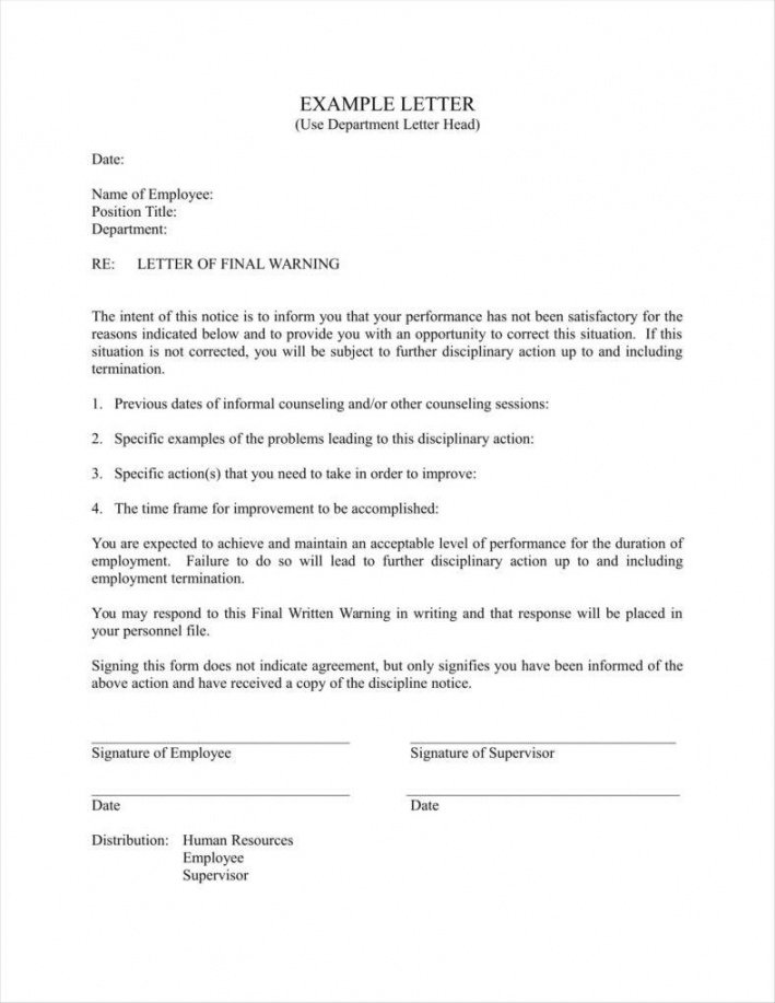 editable 8 sample final warning letters free samples examples formats employee warning notice form template sample