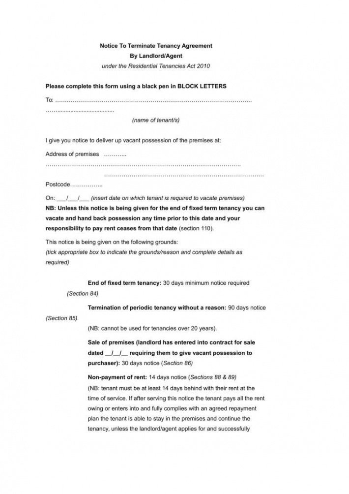 Letter To Tenant To Terminate Lease From Landlord from cashbackdiscountrealestate.com