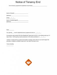 editable end of tenancy letter templates rental termination notice template word