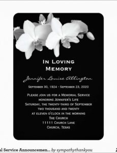 editable lovely free funeral invitation template  best of template memorial service notice template example