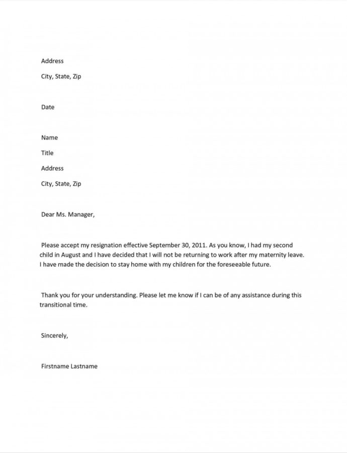 Editable Maternity Return To Work Letter From Employer Template Collection Stop Work Notice Template Example