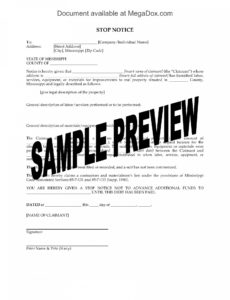 editable mississippi stop work notice stop work notice template pdf