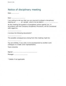 free 9 disciplinary warning letters  free samples examples download personnel action notice template