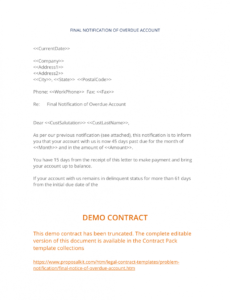 free final notice of overdue account  3 easy steps collection letter template final notice