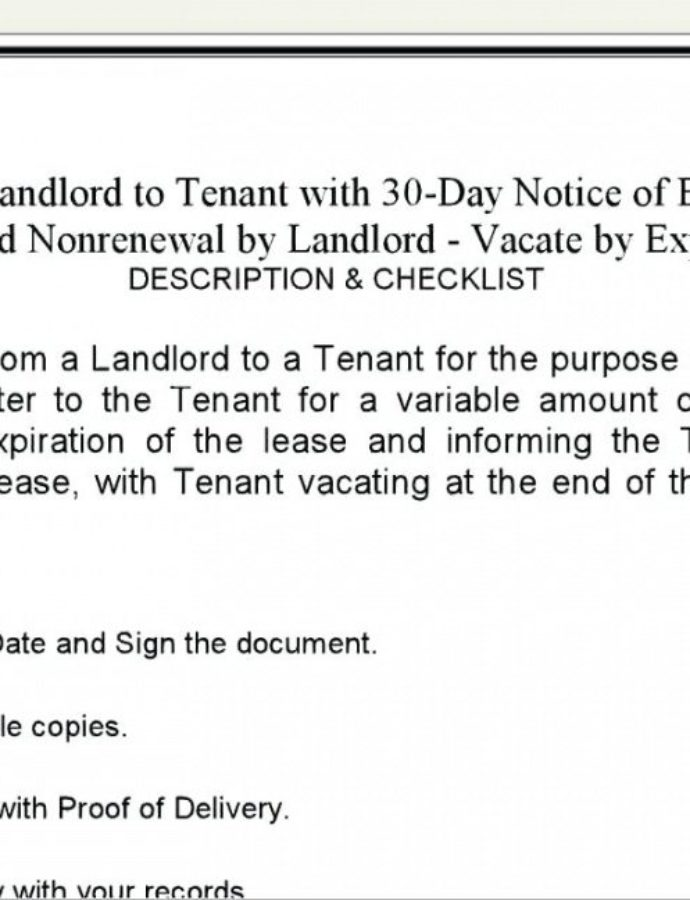 Free Landlord Templates Inspirational Notice Lease Termination Of Notice Of Nonrenewal Of Lease By Tenant Template Sample