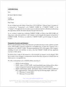 letter of intent loi template  all the key terms included in an loi legal notice template word