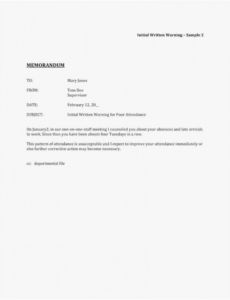 printable 008 employee warning notice template word download letter format new employee warning notice form template example