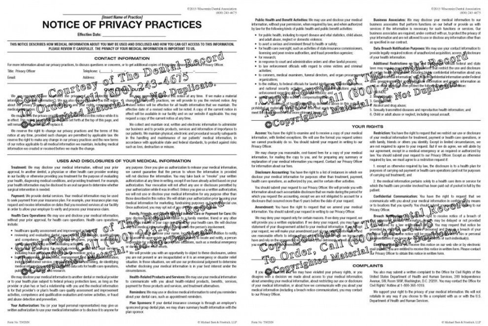 printable hipaa notice of privacy practices notice of privacy practices template pdf