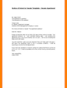printable moving out of apartment letter notice to landlord vacate template written notice to vacate apartment template