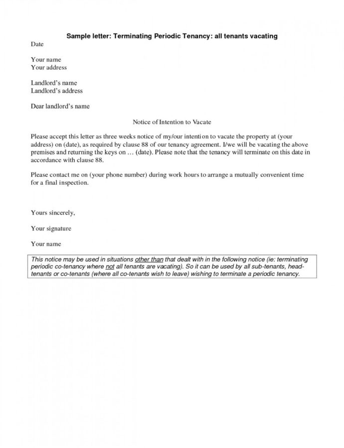 Printable Notice To Vacate Apartment Letter Template Collection  Letter 60 Day Notice To Vacate Apartment Template Doc