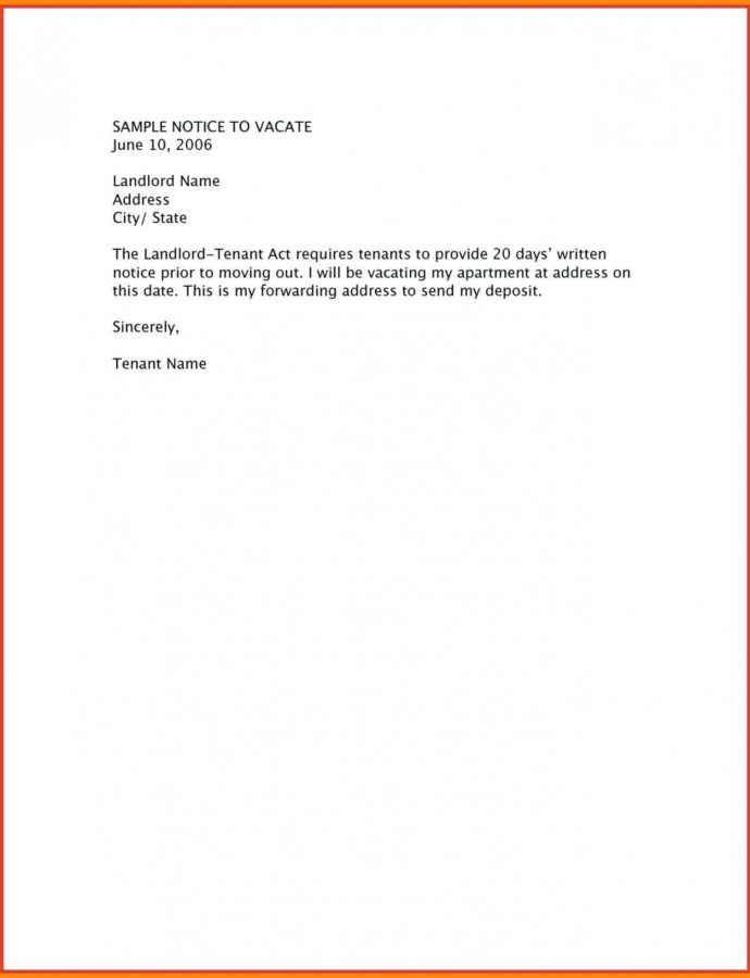 Printable Tenant Move Out Letter  Elasticprintco Moving Out Notice Letter Template Example