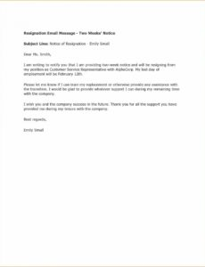 15 2 week resignation letter  leave latter template resignation letter 2 week notice example
