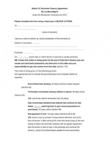 9 tenancy termination letters  free samples examples notice to tenants template pdf