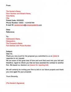bid rejection letter 10 samples & writing guidelines notice of invitation to bid template sample
