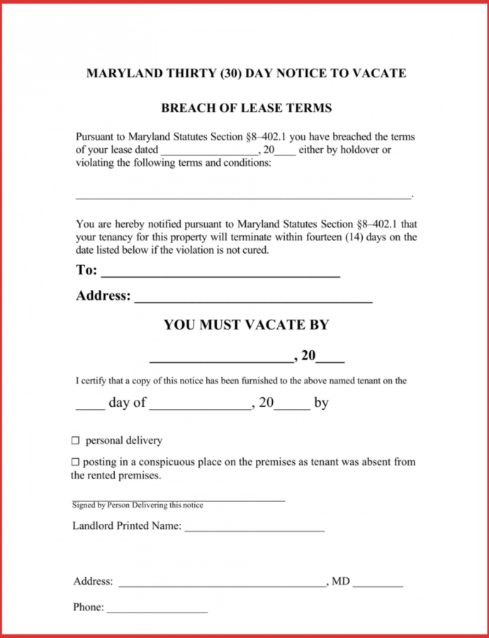 Costume 024 Day Notice Template Ideas For To Dreaded 30 Example How To Write A 30 Day Notice Template Word