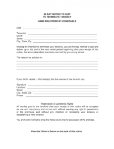 costume 30 day letter to vacate  magdaleneproject how to write a 30 day notice template sample