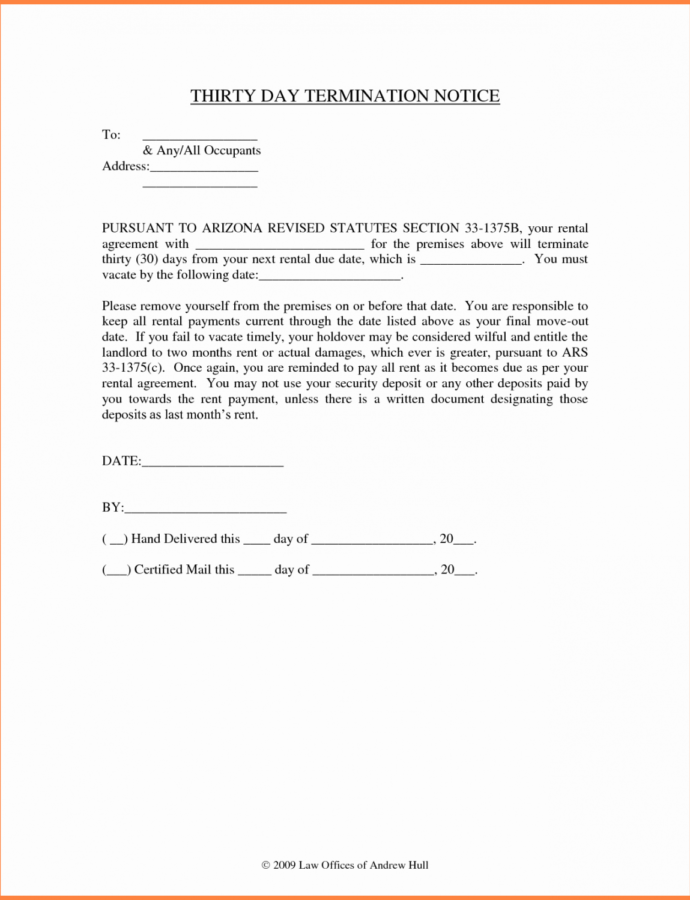 Costume 30 Landlord Notice To Vacate  Tate Publishing News Notice To Vacate Tenant Template PDF