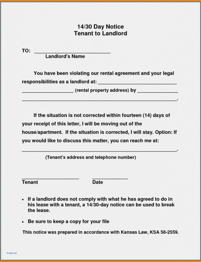 Editable 10 Sample Letter To Landlord Moving Out  Cover Letter Template For 30 Day Notice To Move Out Doc