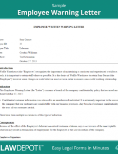 editable employee warning letter template us  lawdepot template for employee warning notice doc