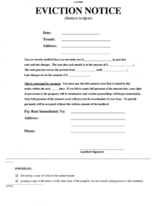 editable eviction notice fill in  fill online printable fillable eviction notice pa template sample