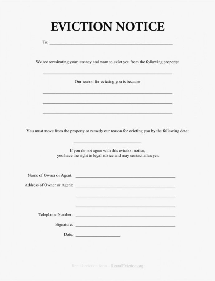 Editable Eviction Warning Letter Template Examples  Letter Template Alberta Eviction Notice Template Example