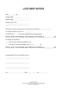 editable late rent notice  fill online printable fillable blank template for late rent notice pdf