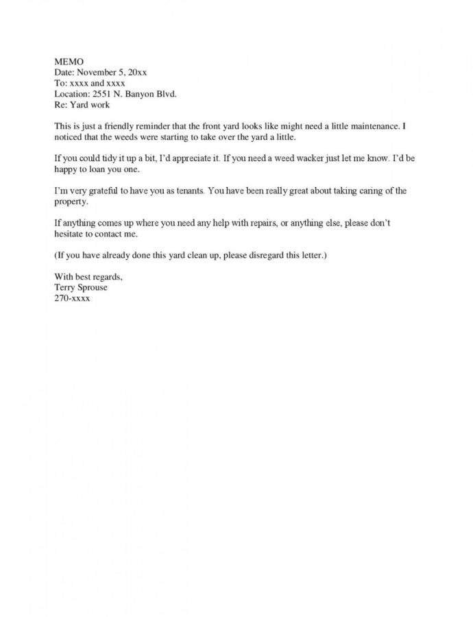 Editable Sample Letter To Tenants « Terry Sprouse Notice To Tenants Template Sample