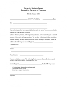 free 3 day notice florida  fill online printable fillable florida eviction notice template pdf