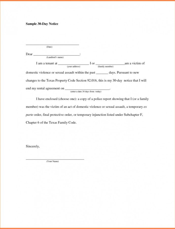 Free 6 Example Of Notice To Vacate Apartment  This Is Apartment Vacate Notice Template PDF