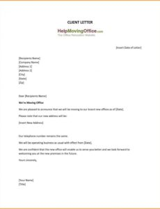 free 7 address change letter  types of letter address change notice template pdf
