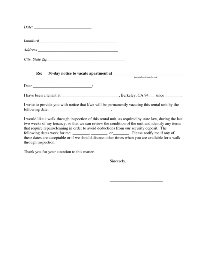 Free Best Photos Of Move Out Notice To Tenant Template  30Day Apartment 60 Day Notice Template PDF