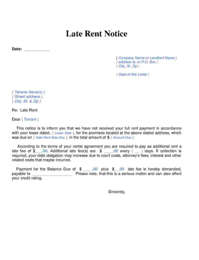 Free Download Late Rent Notice Style 14 Template For Free At Template For Late Rent Notice