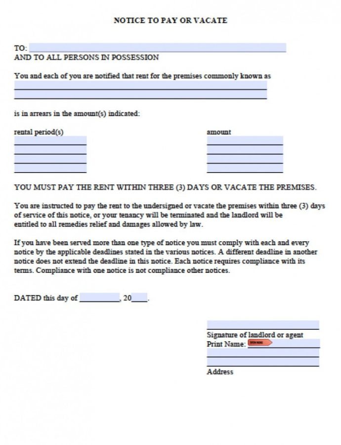 Free Free Washington Three 3 Day Notice To Quit For Nonpayment 3 Day Notice Template Example