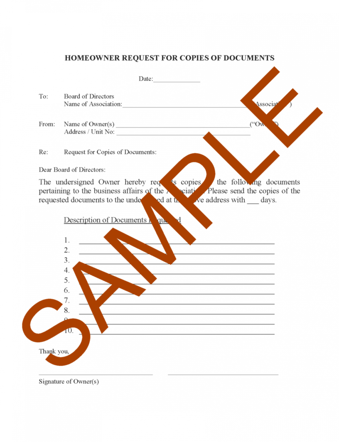 Free Hoa Letter Samples Forms And Templates  Hoa Member Services Hoa Violation Notice Template Example