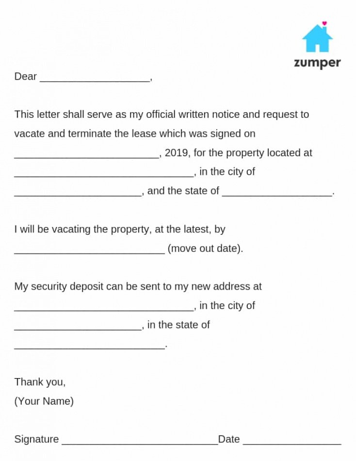 free how to give written notice to your landlordnotice to template of notice to vacate doc