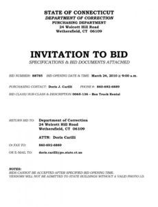 free invitation to bid letter template examples  letter template notice of invitation to bid template sample