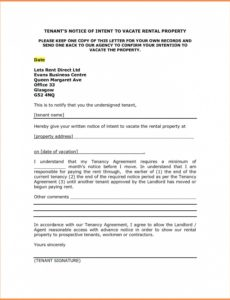 free letter to vacate template  wecolorco tenant notice to quit template sample