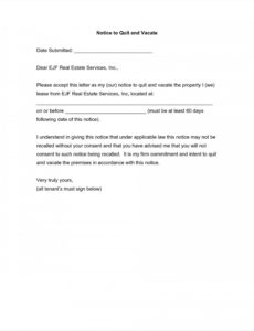 free notice to vacate apartment letter template examples  letter template for notice to vacate apartment example