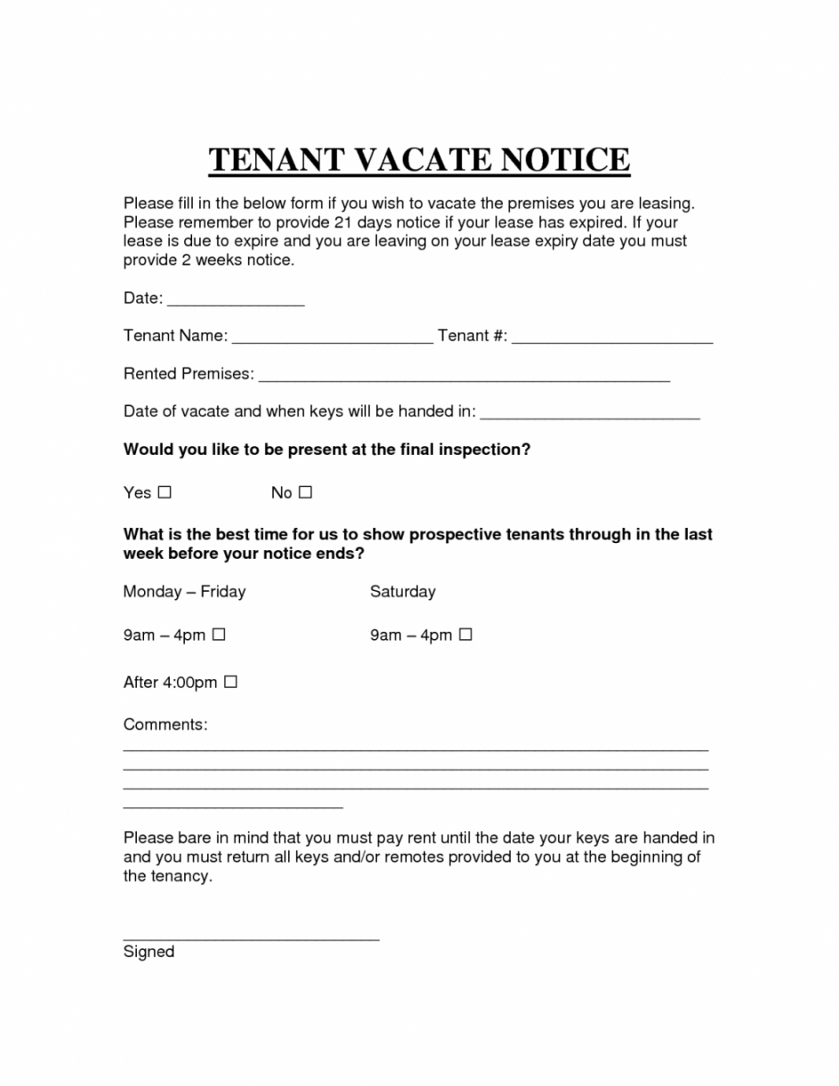 free printable sample vacate notice form attorney legal notice to evict template doc