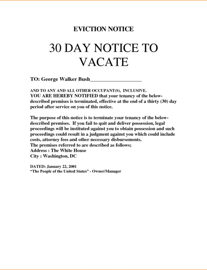 Printable 28 Nc Eviction Notice Template  Robertbathurst Eviction Notice Template Nc Doc