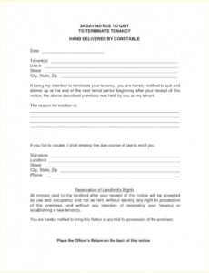 printable 30 day notice letter to landlord  giftedpaperco 30 day notice move out template
