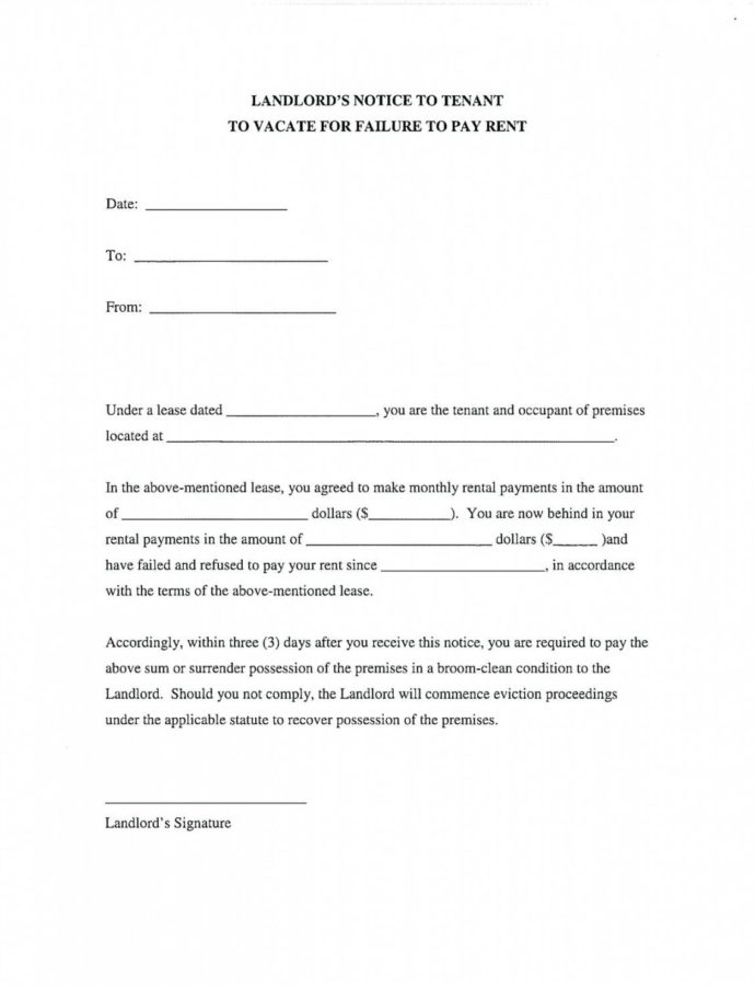 Printable 30 Day Notice To Landlord Template  Reddogsheetco 30 Day Notice To Landlord Template Sample Sample