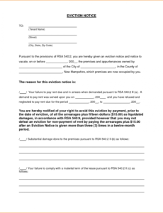 printable 6 free eviction notice template  teknoswitch alberta eviction notice template