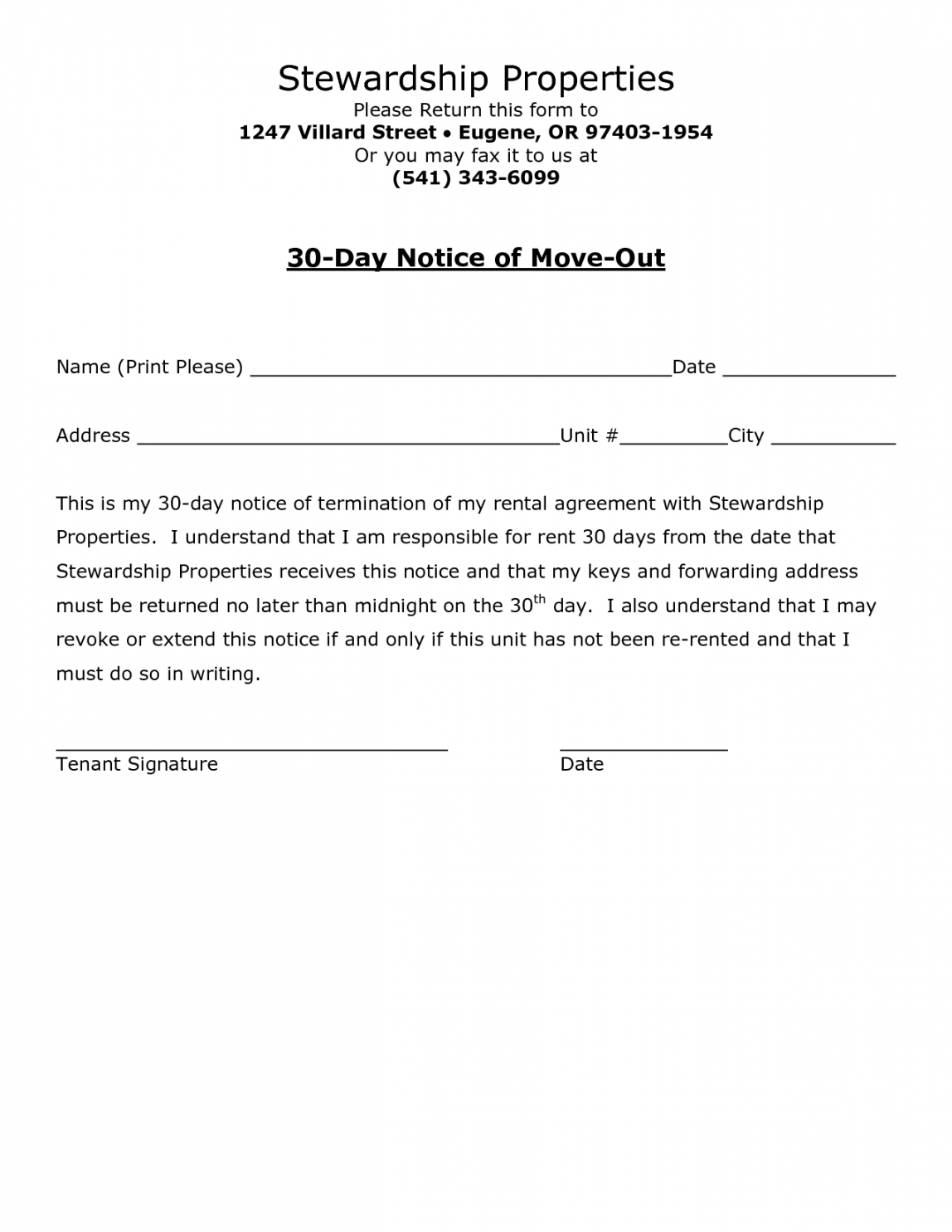 printable best photos of 30day notice to landlord sample letter  30 template of notice to vacate doc