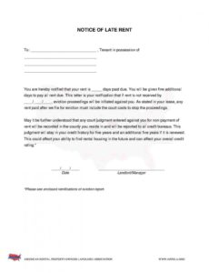 printable download late rent notice style 18 template for free at template for late rent notice